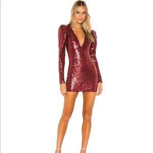 Revolve x Michael Costello Red Sequin Mini Dress